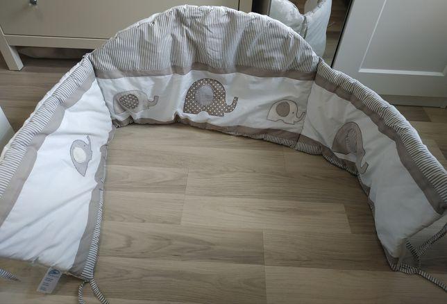 Ochraniacz do łóżeczka 170 cm  30 w słoniki alvi dziewczynka chłopiec