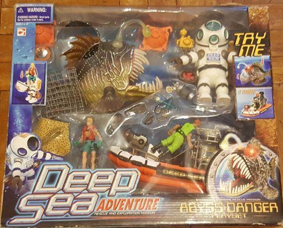 Duży super zestaw głębinowy dla dzieci łódź pirania kombinezon