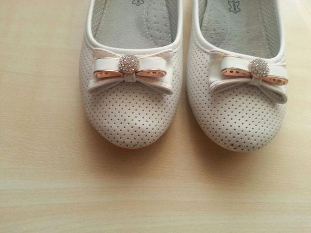 Białe buty, baleriny do komunii rozm.33