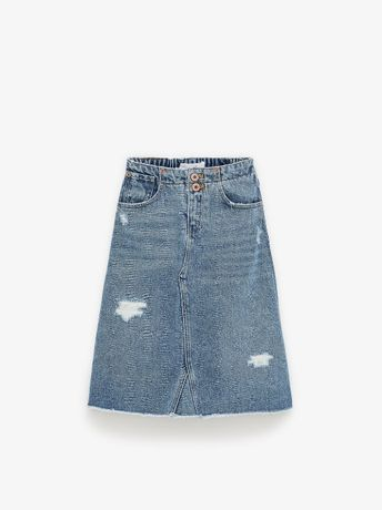 ZARA 2020 spódnica maxi jeans