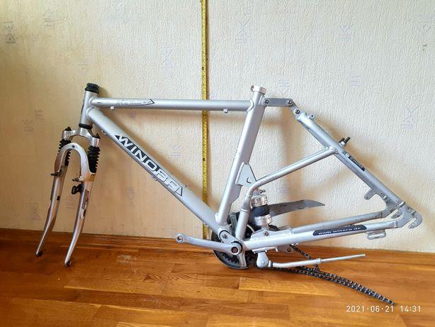 Велосипедная рама Winora с  вилкой , воздушным амортизатором и др