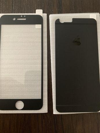 Защитное стекло IPhone 6 6s , айфон. Черный цвет