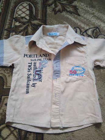 Модная рубашка на мальчика