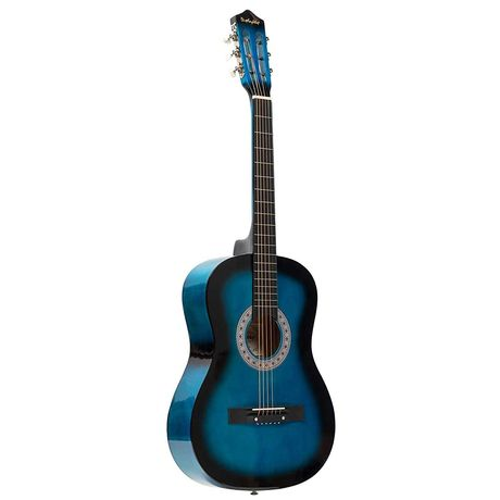 Gitara akustyczna dla początkujących pudło Niebieska