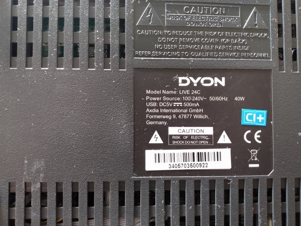 Sprzedam uszkodzony tv Dyon 24 Live C