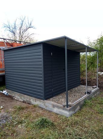 Schowek ogrodowy domek profil ocynk