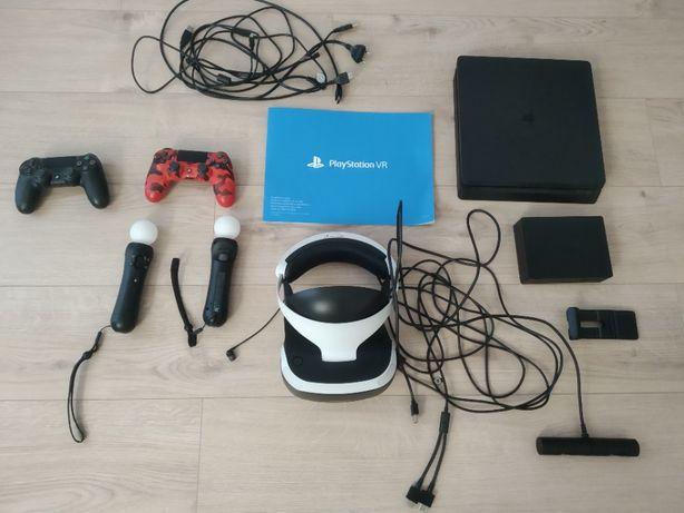 Sprzedam konsolę PS4 oraz google VR + 2x kontrolery move+ 2 pady