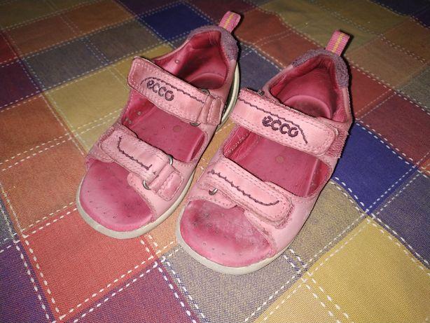 Sandałki Ecco 24 dziewczynka różowe