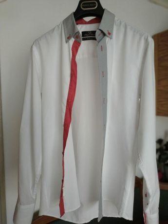 Сорочка з червоними вставками S