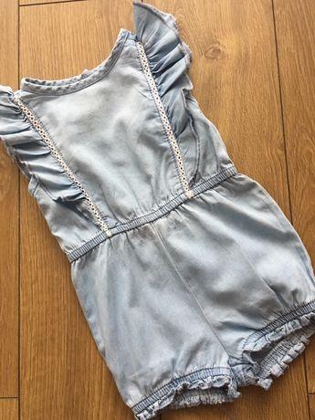 Kostium Rampers Body jeansowe rozmiar 74