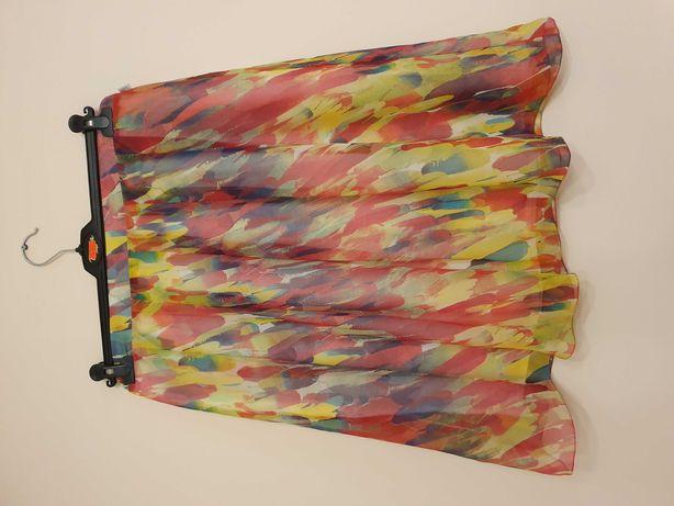 Kolorowa spódnica z szyfonu