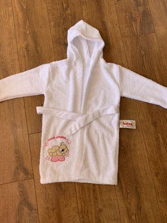 Новый детский халат (5-6 лет)