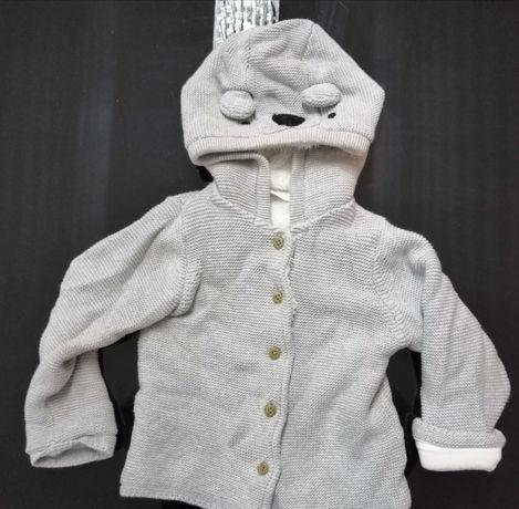 Płaszczyk, kurtka, sweterek ocieplany wiosenno-jesienny
