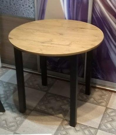 Stół okrągły 80 cm loft dąb lancelot nogi czarne 70, 80 ,90 100, 65