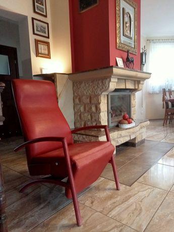 Fotel skórzany z funkcją relax