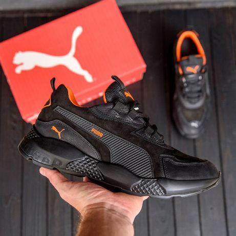 Кроссовки мужские кожаные Puma ST RUNNER 23-29,5см 2021 Натур кожа