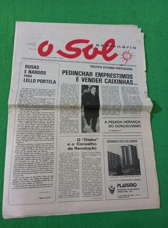 O SOL semanário do número 1 ou número 8  Director Vera Lagoa  Ano 1976
