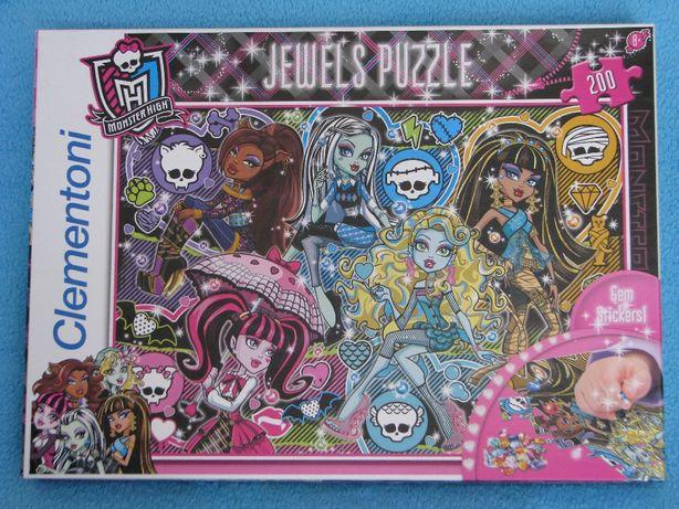 Monster High puzzle z klejnotami Clementoni 200 elementów puzle MH