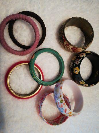 Lote pulseiras 6 Sacoor e 2 Pedra Dura