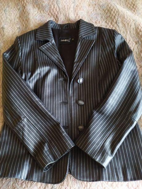 Новый Кожаный пиджак 46-48