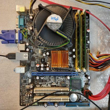 Продам мат. плата Asus P5KPL + Xeon 5260 + DDR2 2Гб