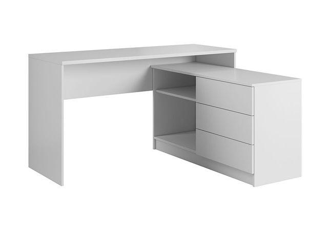 Biurko Teo białe matowe do biura, pokoju, do nauki