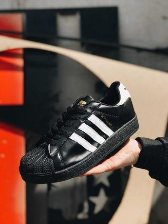 Кроссовки Адидас Суперстар черные Adidas Superstar Black