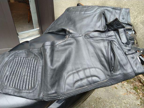 Spodnie motocyklowe skórzane