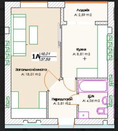 В самом центре Ирпеня! 1к квартира в новом 5 этажном доме, Без комисси