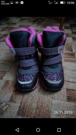 Теплі зимові чобітки для дівчинки