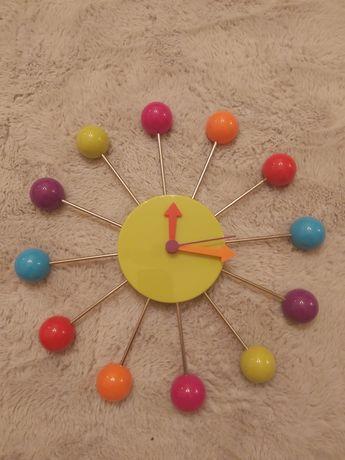 Zegar ścienny dzieciecy mlodziezowy kolorowy