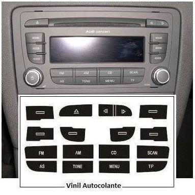 Kit vinil para reparação do Rádio Audi A3 8P