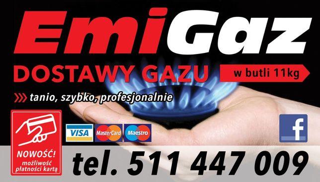 Dostawa gazu, płatność kartą