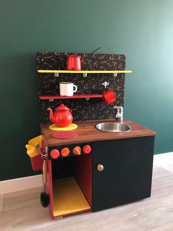 Kuchnia dla dziecka HAND MADE zabawka przechowywanie pokój vintage