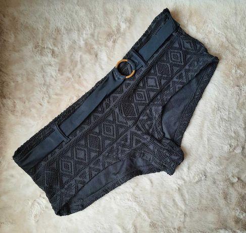 Стильные черные плавки шортики низ купальника