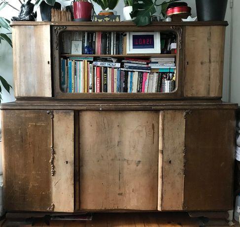 Biblioteczka zabytkowa szafa, możliwa w komplecie z komodą na ubrania