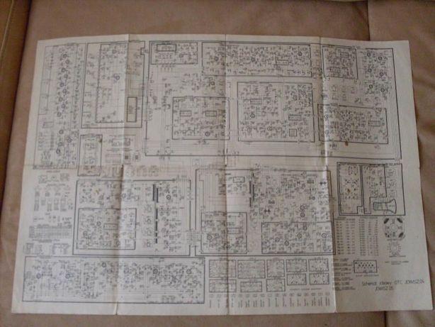 schemat ideowy elektroniczny telewizora OTC Jowisz 04 i Jowisz 05