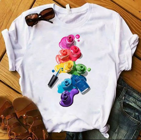 Koszulka bluzka t-shirt lakiery do paznokci S-XXL
