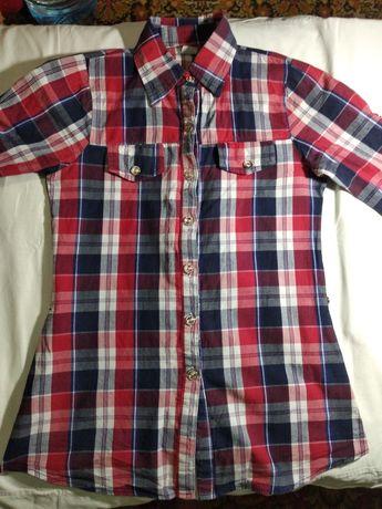 Рубашка,блузка в клетку