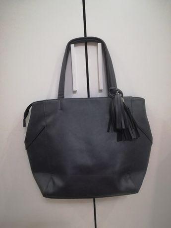 Firmowa torebka shopper bag z chwostem jak nowa na zimę