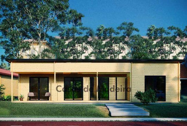 Casa de Madeira ABC 447P - T3, Pré-fabricada 90m2