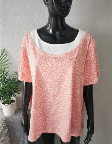 Nowa bluzka bawełna rozmiar 50 52 duży rozmiar plus size