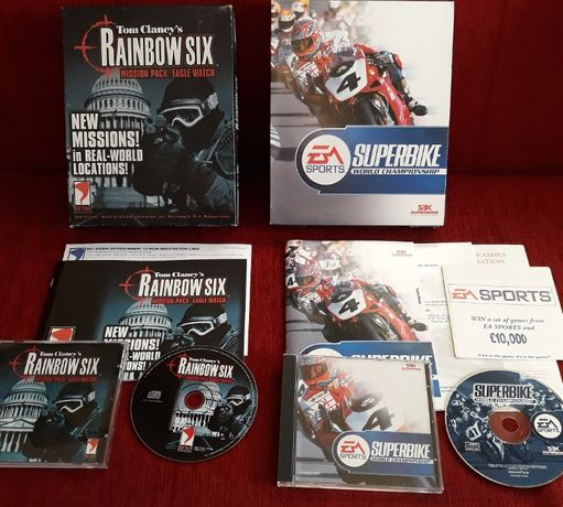 Superbike World Chamionship + Rainbow Six: Eagle Watch PC 2 x BIG BOX