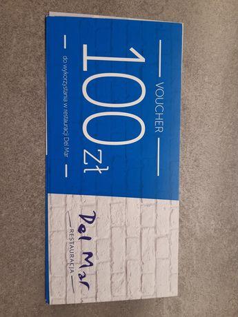 Voucher 100 podarunkowy karta do restauracji Del Mar w Gdyni prezent