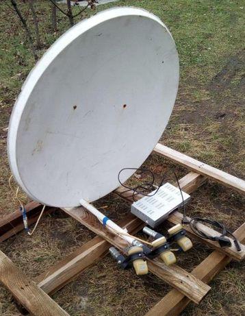 спутниковая антенна в комплекте и тюнер