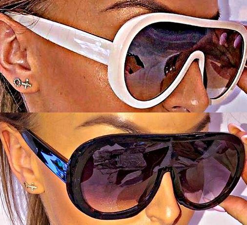 Beżowe czarne okulary słoneczne