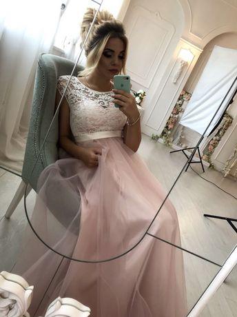 Продам платье розовая пудра, платье на торжество, выпускное платье