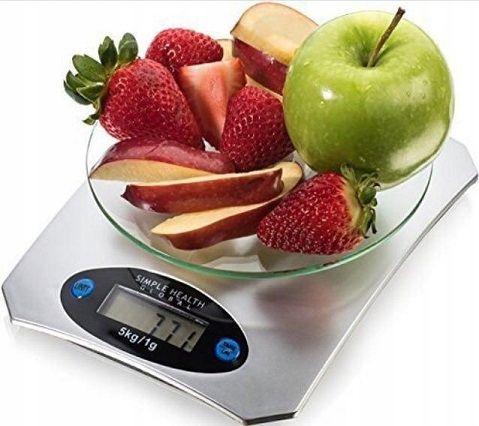 Waga kuchenna szklana lcd do 5kg elektroniczna