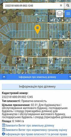 Участок земли под жилую застройку с. Владимировское