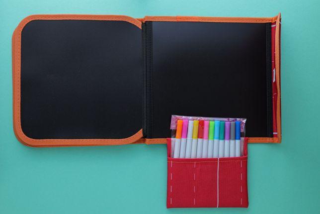 Детская книжка-меловая доска Tumama с 12 фломастерами для рисования